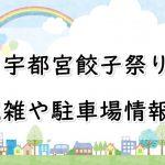 宇都宮餃子祭り2018の混雑や駐車場情報!