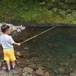 上津江フィッシングパークへ子供と一緒に釣りと川遊びに行ってきました!