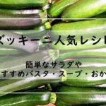 ズッキーニの人気レシピ【14選】1位はつくれぽ1000越え殿堂入り!簡単なサラダやおすすめパスタ・スープ・おかず