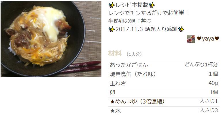 焼き鳥缶 親子丼 ヒルナンデス