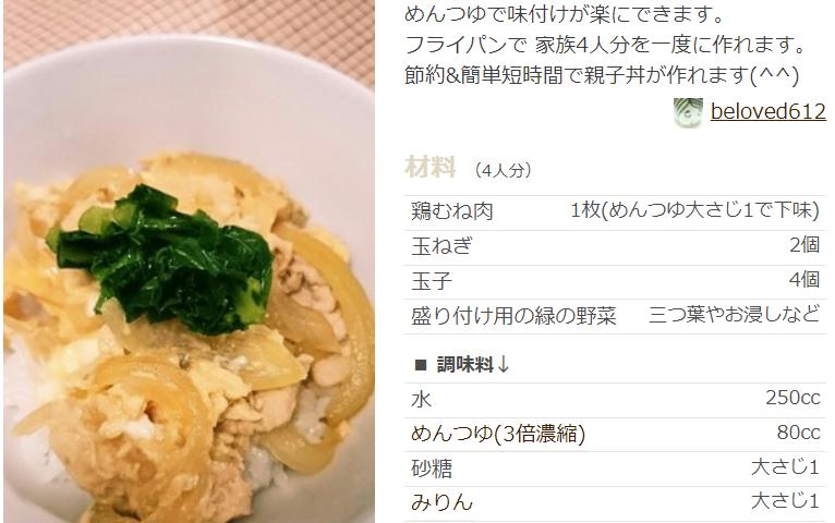 丼 レシピ めんつゆ 親子 玉子丼レシピ めんつゆ