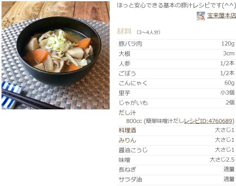 豚汁 レシピ 基本