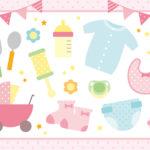【無料】年賀状2020でかわいい赤ちゃん!出産報告はがきテンプレート